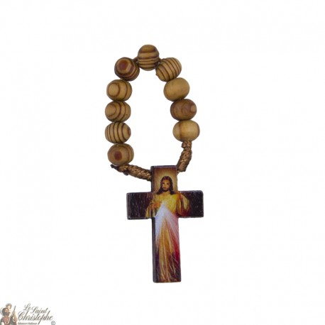 Olive wood rosary to Merciful Christ