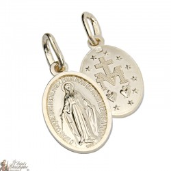MIRACULOUS MEDAL OF THE VIRGIN GOLD PLATED - 17 MM