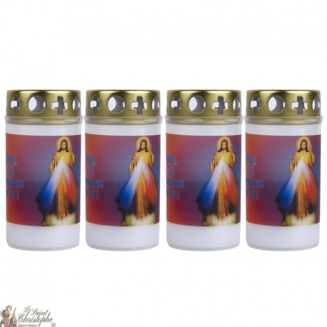 Bougies d'extérieur au Christ Miséricordieux - couvercle