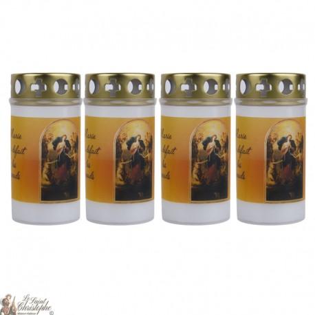 Bougies d'extérieur à Marie qui défait les noeuds - couvercle