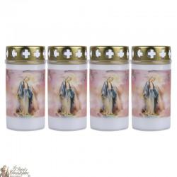 Bougies d'extérieur à la Vierge Miraculeuse - couvercle
