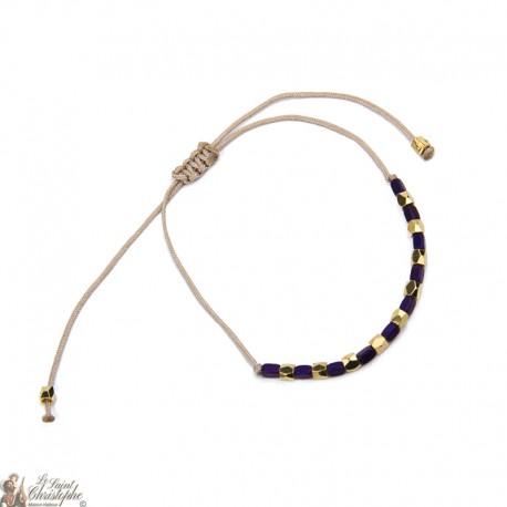 Bracelet doré ajustable