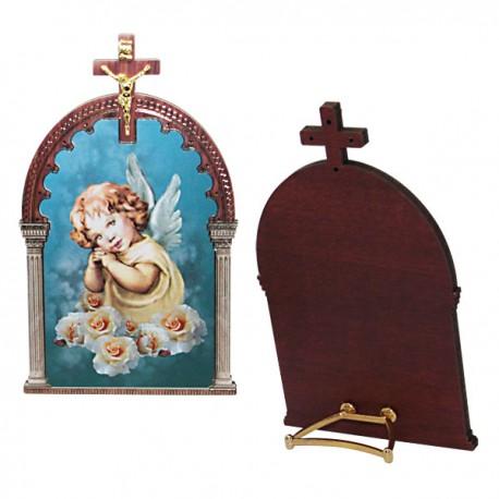 Angel frame with cross