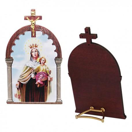 Cadre Vierge du Scapulaire avec croix