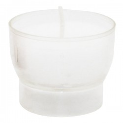 White votive night lights - 4 / 5 hours