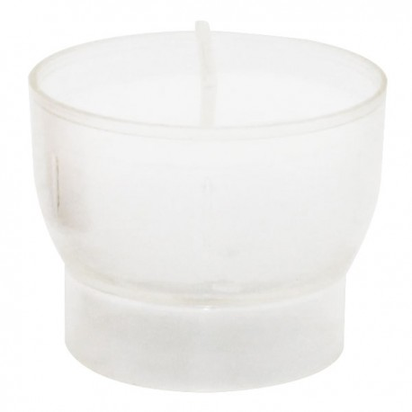 White votive night lights - 4 hours