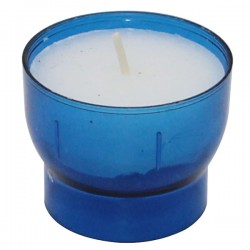 Blue votive night lights - 4/5 hours