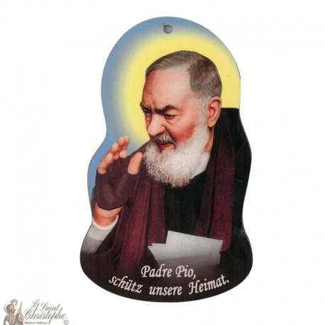 placa de pared - Padre Pio
