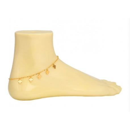 Chaine pied petites croix