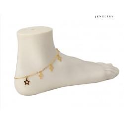 Chaine pied petites croix et étoiles