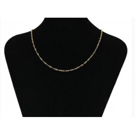 Chaine plaqué or 24 K - 50 cm