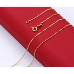 Gold plated 24 K chain - 50 cm