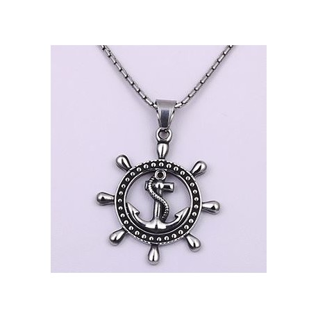 Steel Boat Anchor Wheel Pendant
