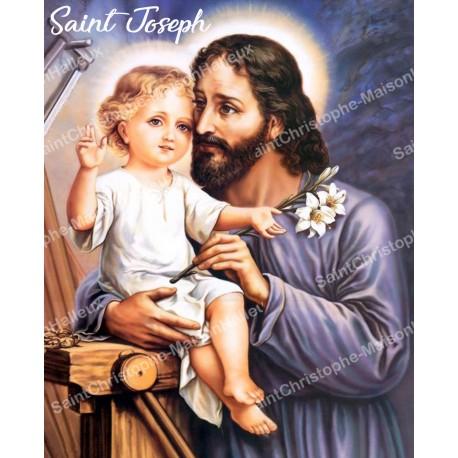 Sticker - Saint Joseph  - 10X13cm