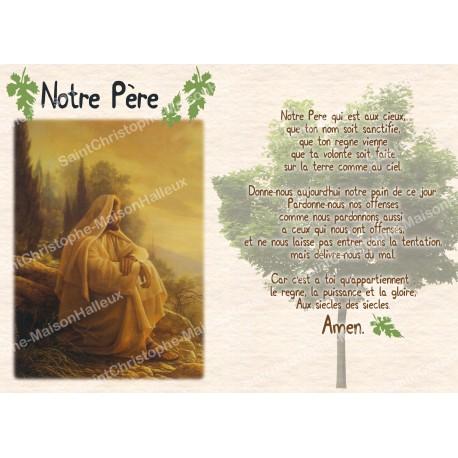 Carte postale aimantée prière - Notre Père