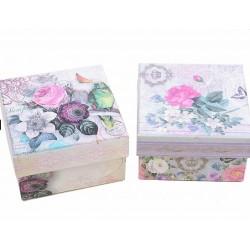 Vintage gift box - flowers