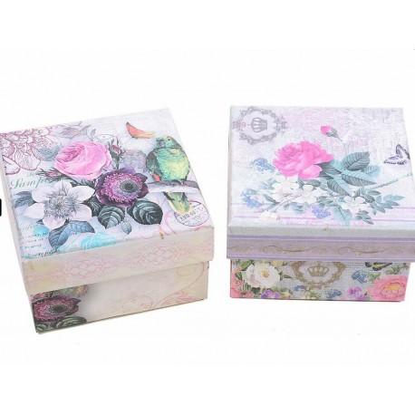 Boite cadeau Vintage - fleurs