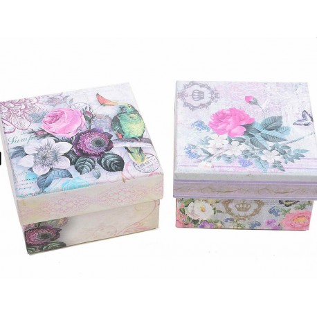 Vintage gift box - flowers