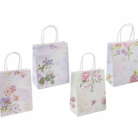 Vintage gift bag - flowers