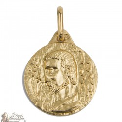 Medal Saint Joseph gold plated - 15 mm
