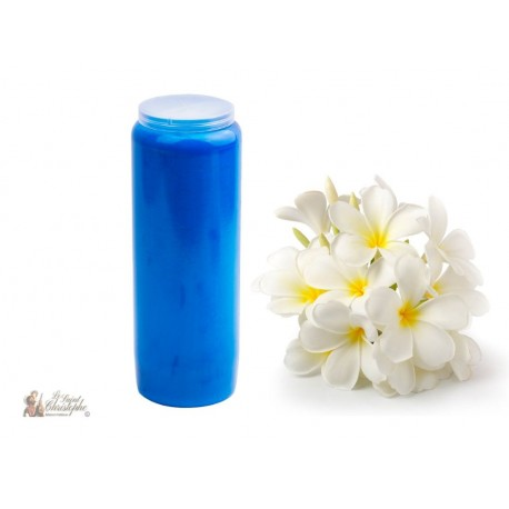 Candles Novenas - Clear Blue - Jasmine scent