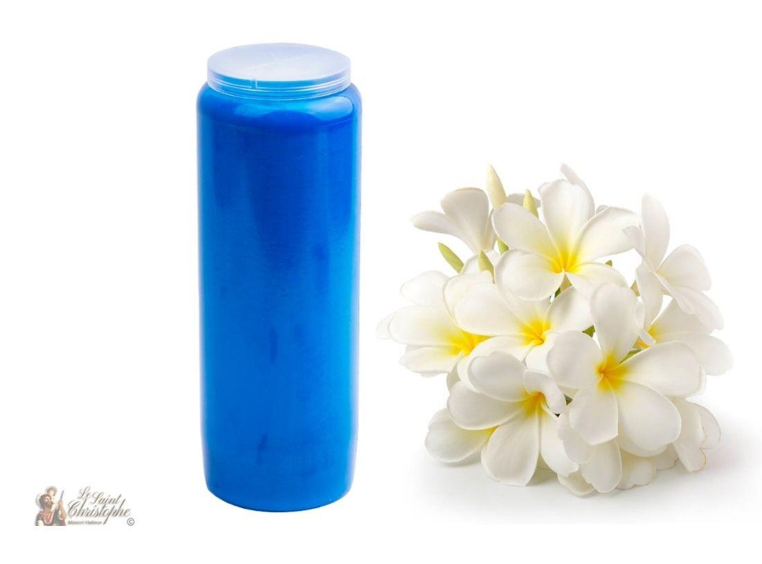 Licht Roze Kaarsen : Noveen kaarsen blauw licht geurende jasmijn maison halleux pro
