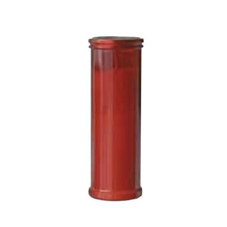 Bougie rouge votive - 21 cm