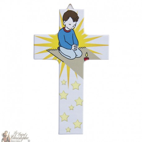 Wooden cross girl - 15 cm