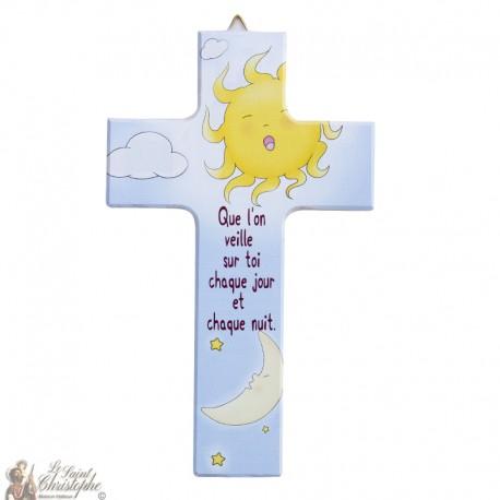 Houten kruis jongen - 15 cm