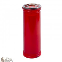 Bougie rouge votive - 21 cm