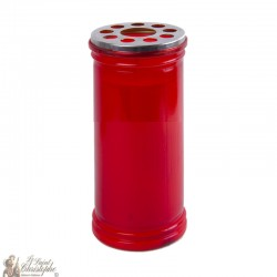 Votive red candle - 15.5 cm