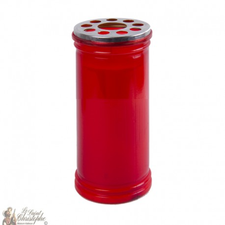 Bougie rouge votive - 15.5 cm