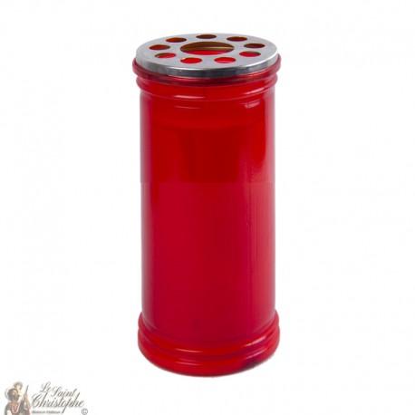 Votivkerze rot - 15.5 cm