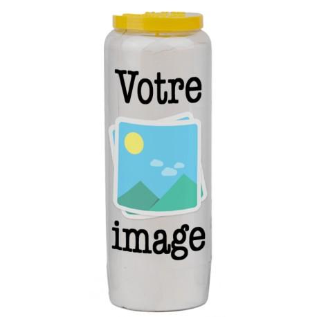 Bougie de neuvaine avec votre image et texte - personnalisable