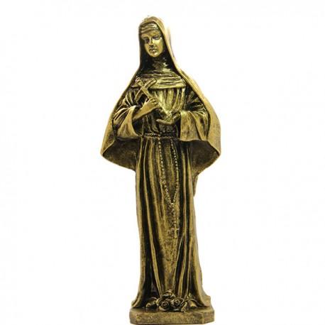 Saint Michel marbre poudre couleur Bronze  - 22 cm