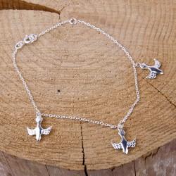 Bracelet with Doves - Silver 925