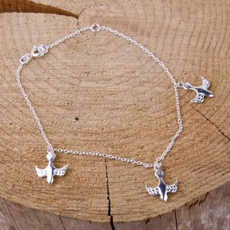 Bracelet Colombes - Argent 925