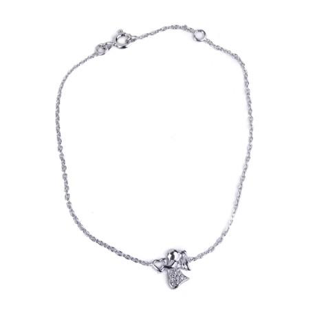 Pulsera corazón del ángel y Cristales - Plata 925