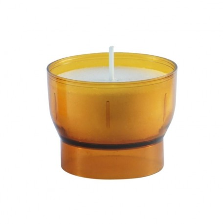 Orangefarbene Votiv-Nachtlichter - 4 / 5 Stunden