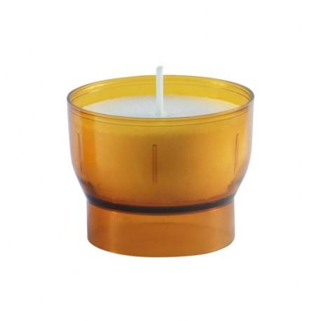 Oranje votief nachtlampjes - 4 / 5 uur