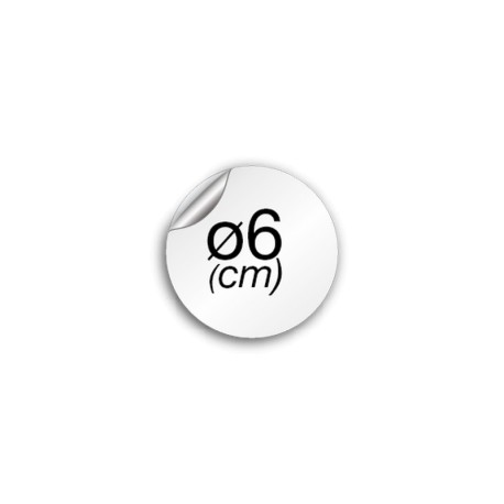 Pegatinas personalizables Vinilo Blanco - 6 cm