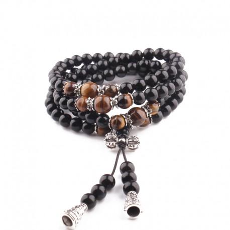 Obsidian Buddhist Bracelet - Spiritual