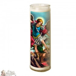 Candle 7 days in glass Holy Michael Archangel