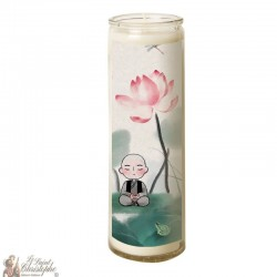 Candle 7 days in glass small Zen Buddha