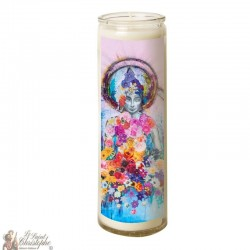 Candle 7 days in zen glass flowers