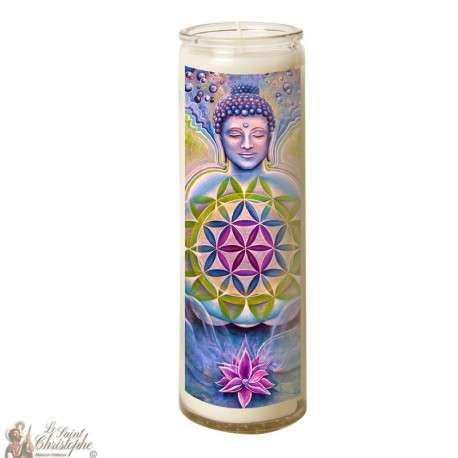 Zen Buddha glass candle 7 days