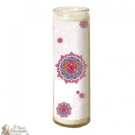 Candle 7 days in mandala glass