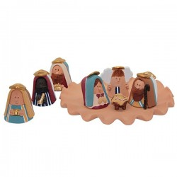 Terra cotta Christmas crib from Venezuela tray - Barrel