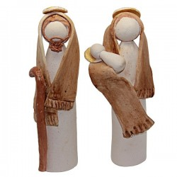 STONEWARE HOLY FAMILY