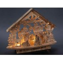 Lighted natural wood crib - LED